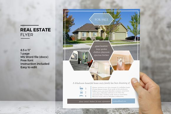 Ms Word Real Estate Flyer Template Real Estate Brochure Template
