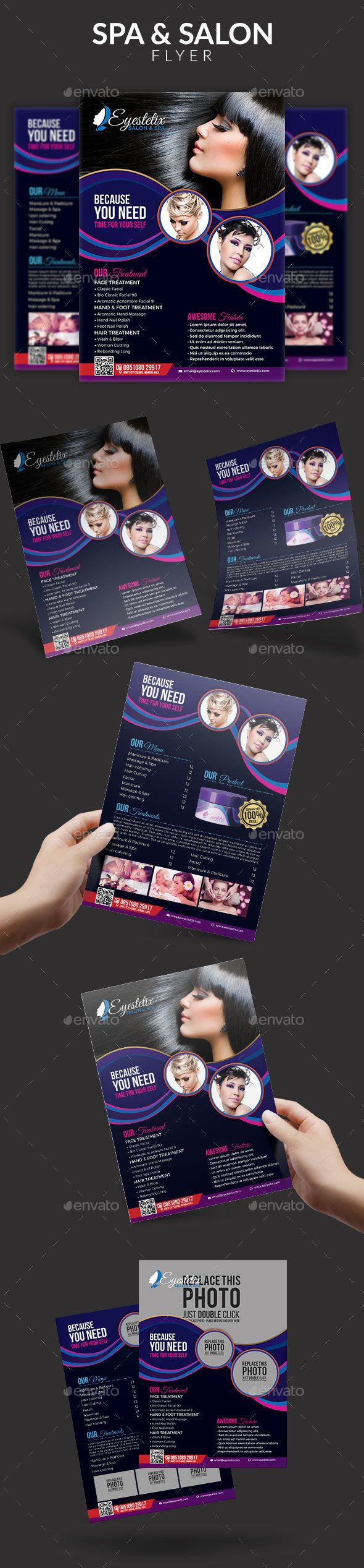 Spa  Beauty Salon Flyer  Flyer Template Building Logo And Flyer