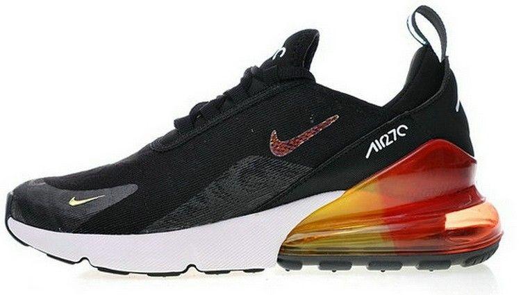 Nike Air Max 270 Flyknit Black White Orange AH6789 016