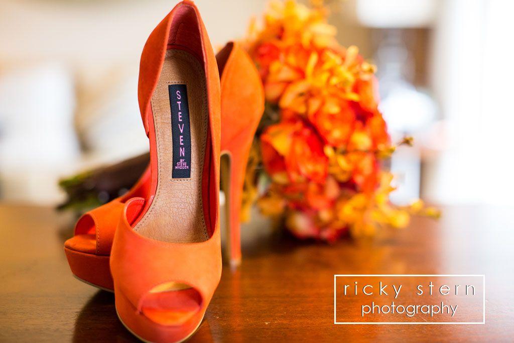 Orange Peep Toe Bridal Shoes Steven By Steve Madden Ricky Stern