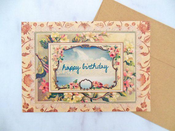 Vintage Lace Birthday Card