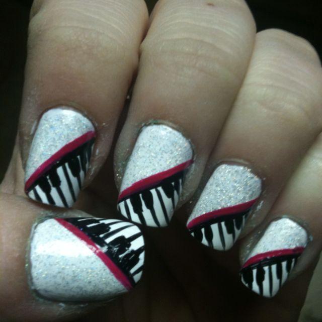Piano Nail Design Whooooh Pinterest Fun Nails Creative