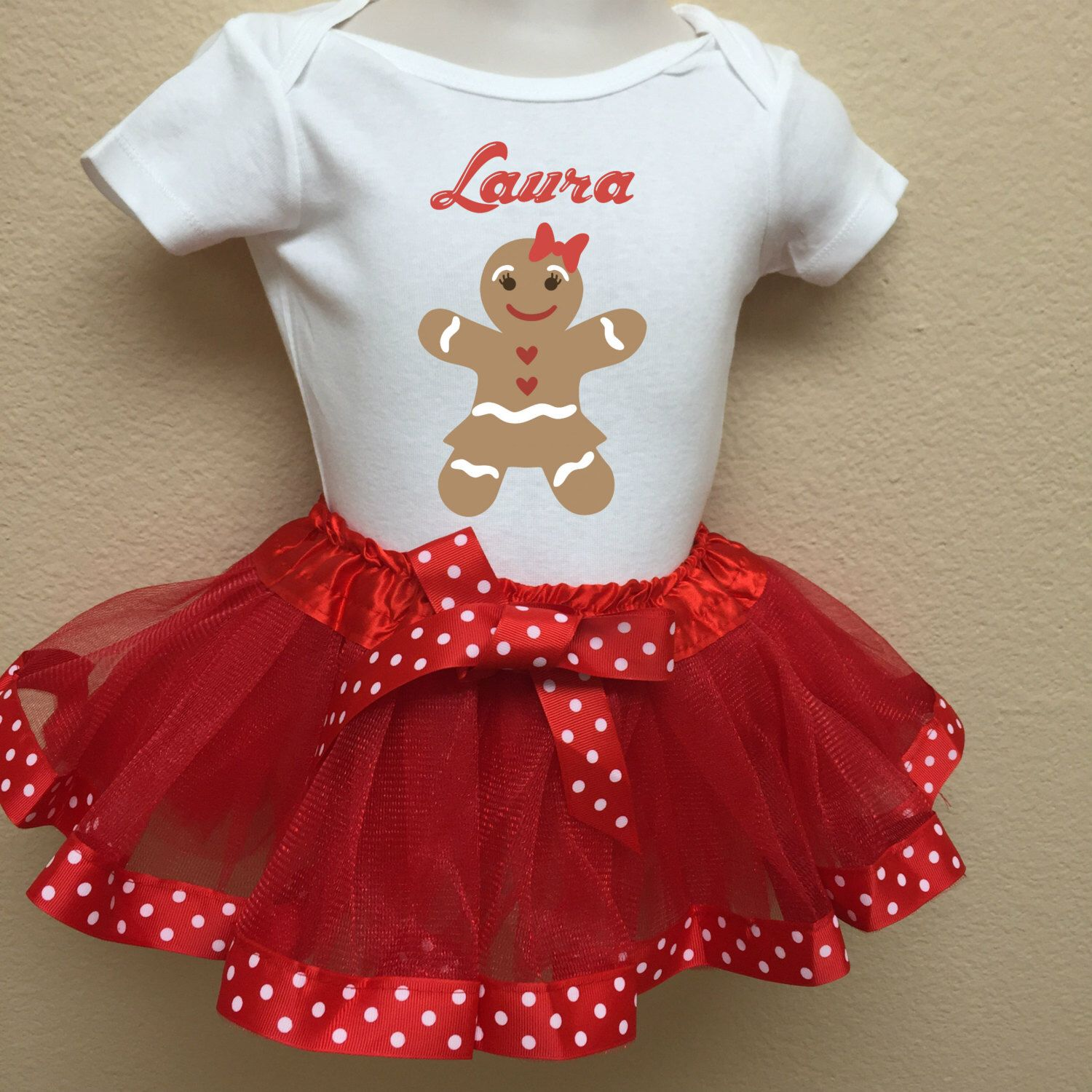 Personalized Cute Baby Girls Christmas Outfit Christmas Tutu Outfits With