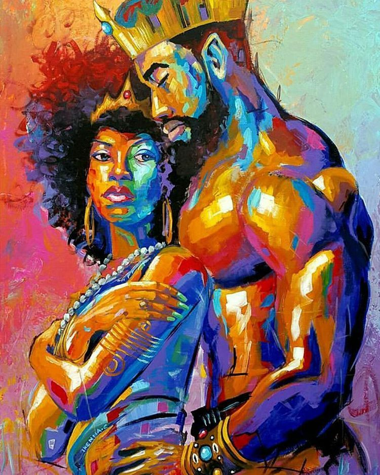 Dope Black Art By At Artbyken On Instagram A King For A Queen