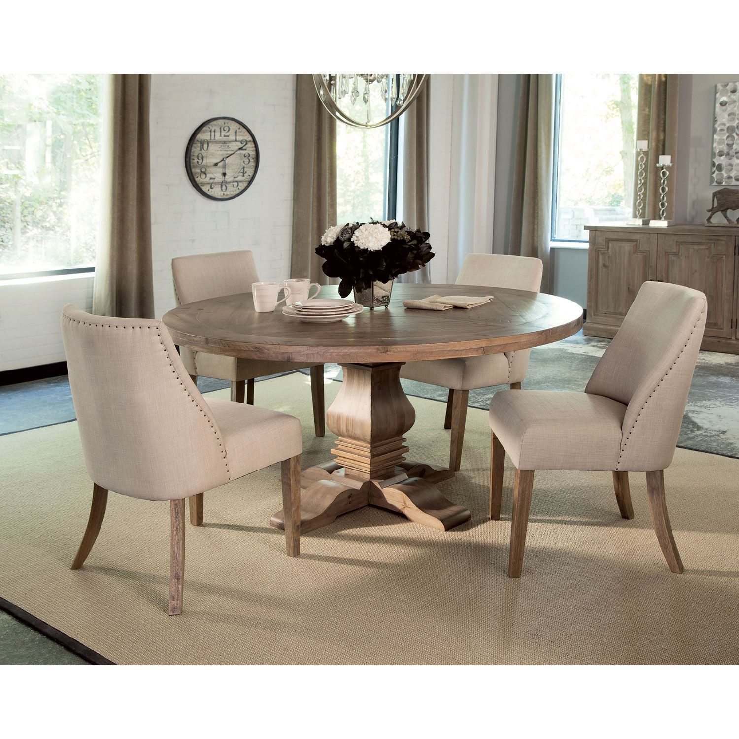 Donny Osmond Home Florence Pine Round Dining Table