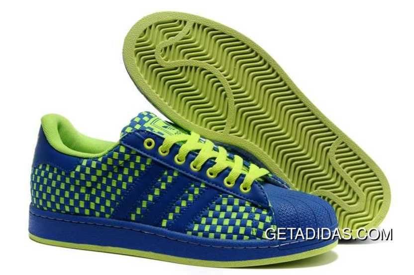 / / blu - giallo - verde - adidas superstar