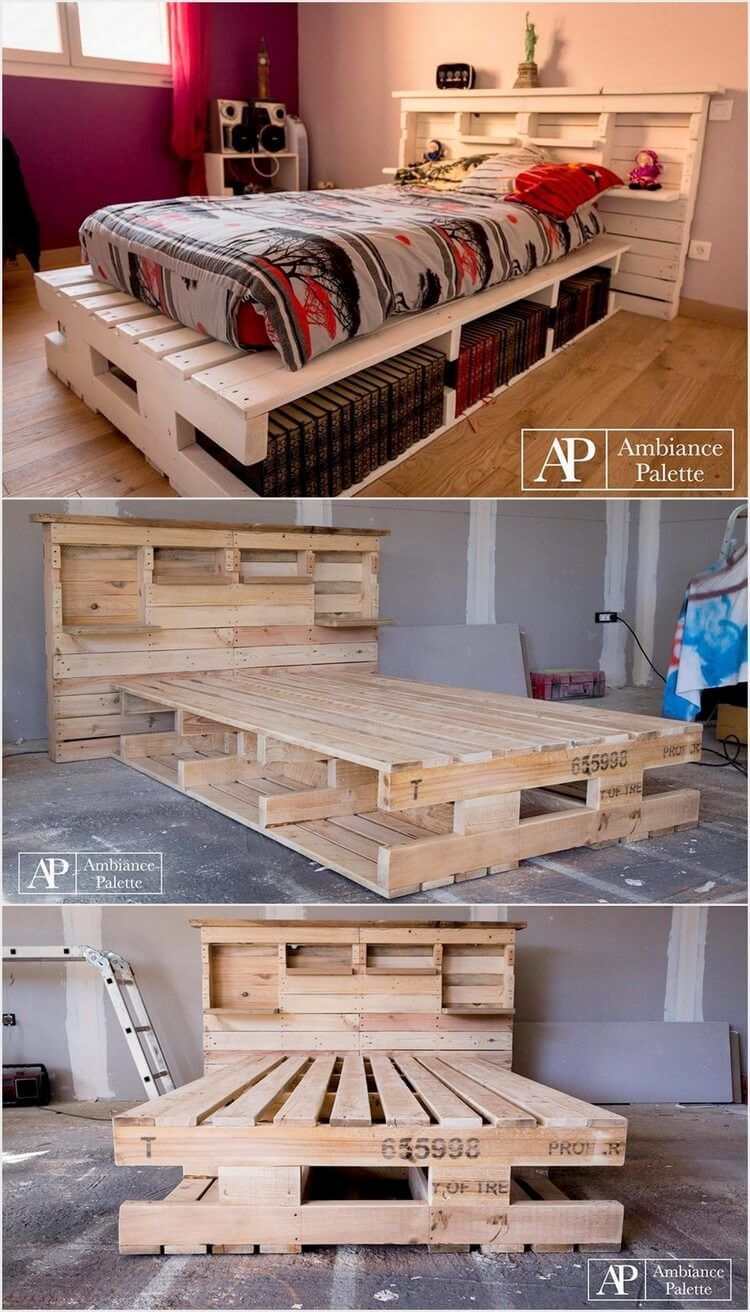 Imaginative ideas with old wood pallets storage headboard pallets