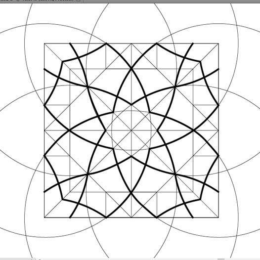 8 Point Arc Ag Aa 2 3 Geometric Drawing Islamic Art Pattern Islamic Patterns