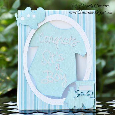 M Miranda Creations Svg Attic Guest Designer Congrats It S A Boy Card Congrats Design Baby Shower