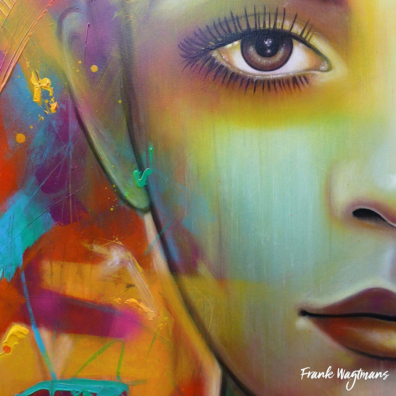 Top Een uniek portret, gezicht van een vrouw. Dit abstract schilderij #GJ89