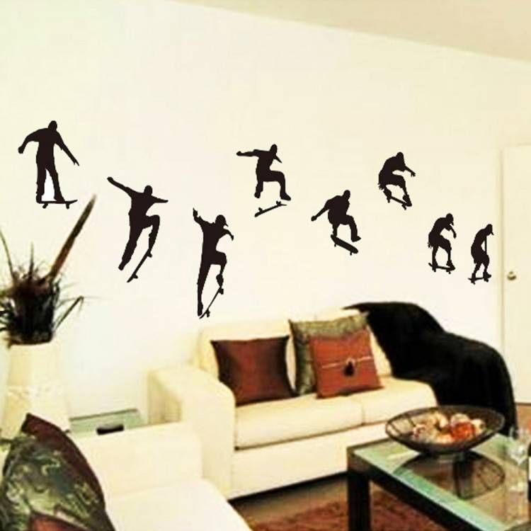 Skateboard Decorating Ideas For Bedroom Wall stickers