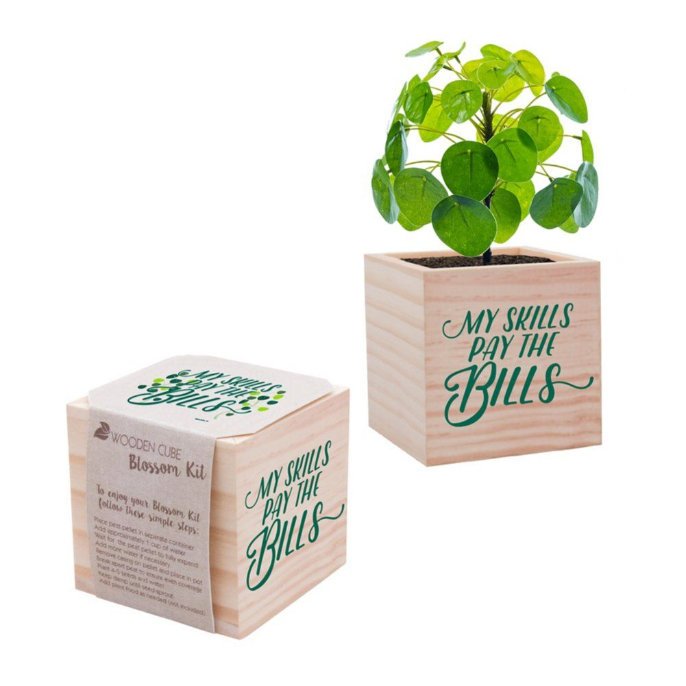 Appreciation Plant Cube My Skills Pay The Bills Employee Appreciation Gifts Employee Gifts Teacher Gifts