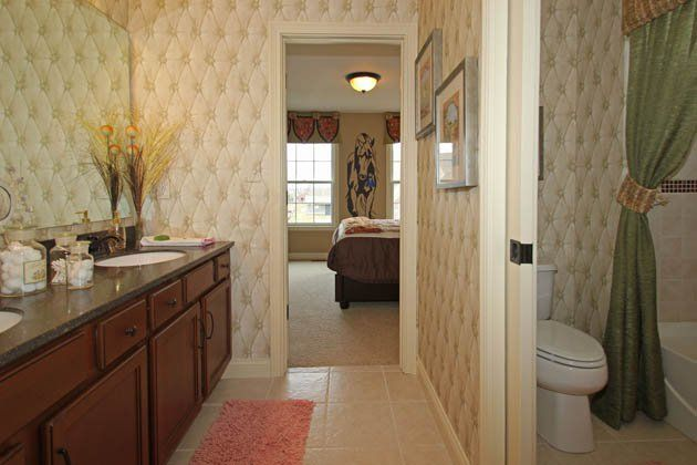 jack and jill bathrooms pictures | Fischer Homes | Decorated model