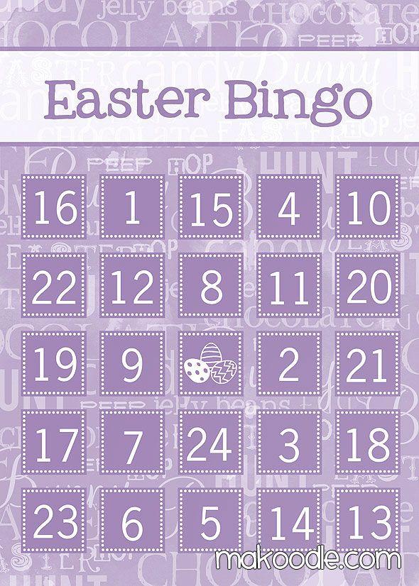 Free Printable Easter Bingo Cards Easter Holidays Easter Food
