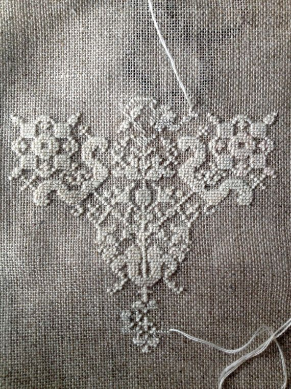 Embroidery pattern byzantine lace blackwork or