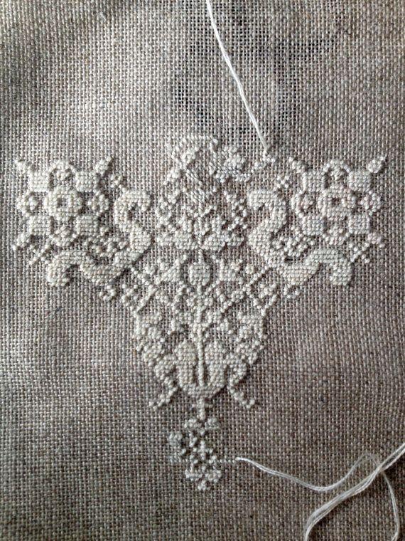 Embroidery pattern byzantine lace blackwork or