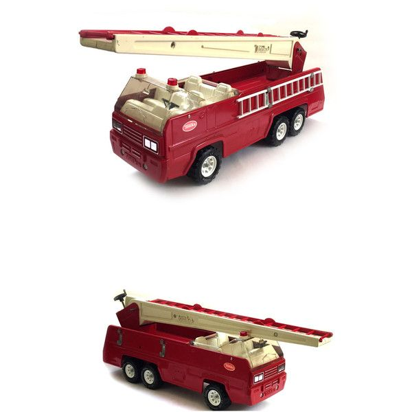Tonka Pressed Steel Fire Truck 1970s Aerial Extension Ladder 2960 ($60) ❤ liked on Polyvore featuring home and home improvement