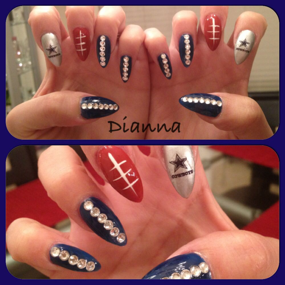 Dallas Cowboys Nails! IG @deesnaildream | Nails | Pinterest | Dallas ...