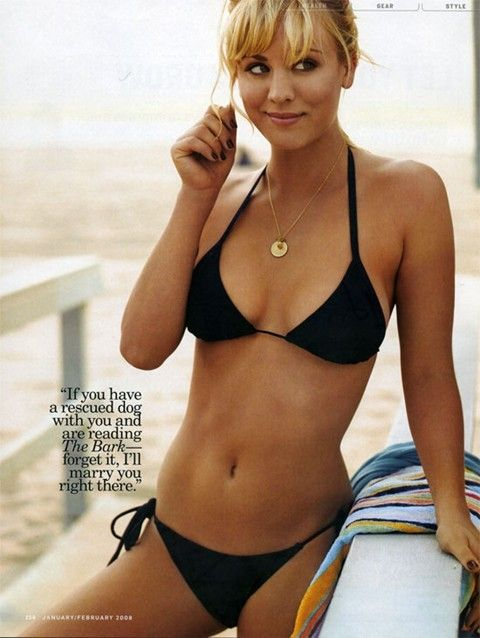 Kaley Cuoco--- i love her. my friend says she reminds him of me....i take it as a compliment. she's a dog lover too..... <3