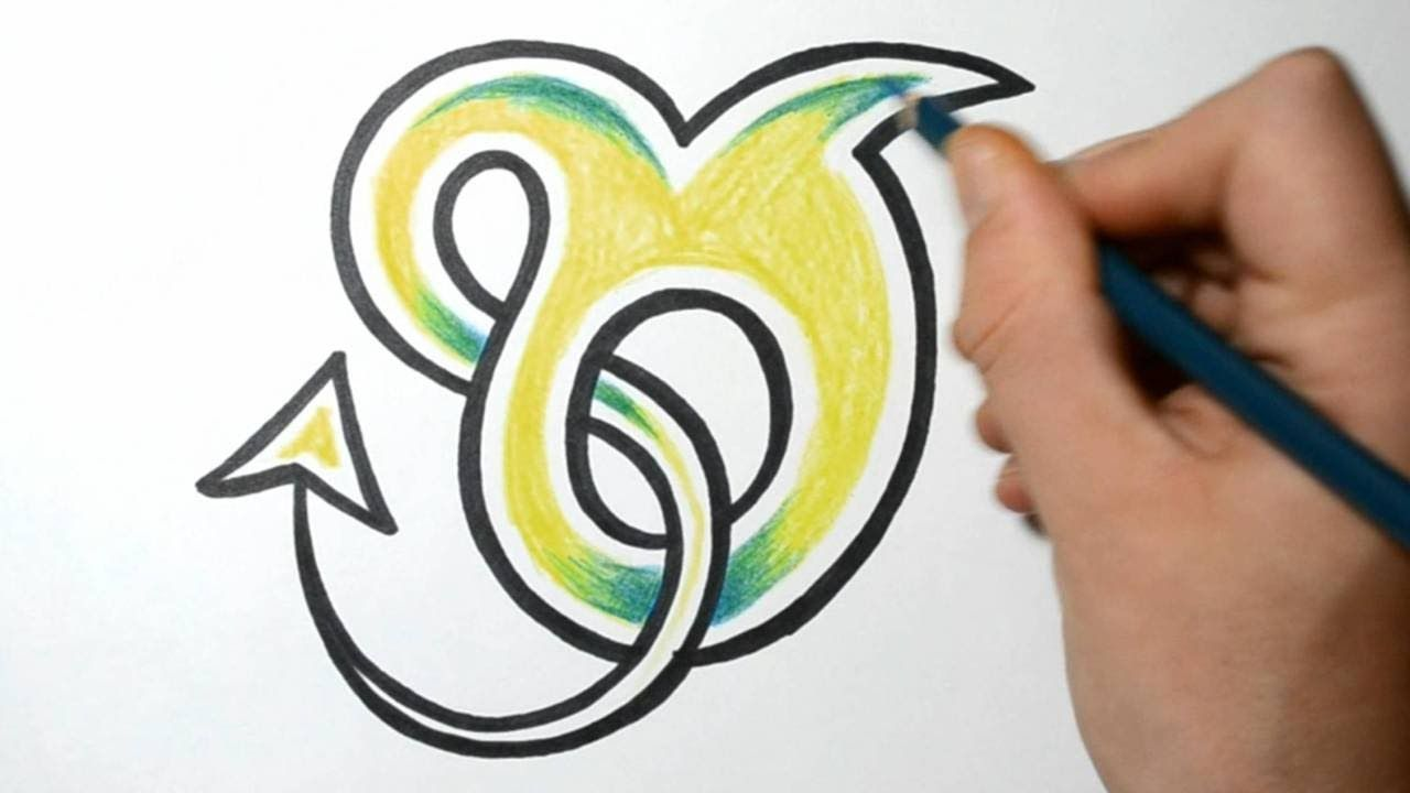 How to draw graffiti characters letter o