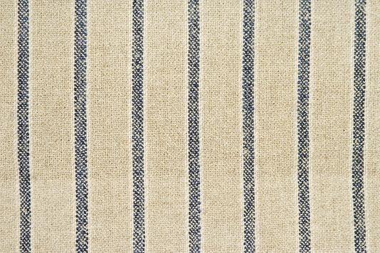 Penwerris Striped Linen Upholstery Fabric Coarse Weave Oatmeal Linen