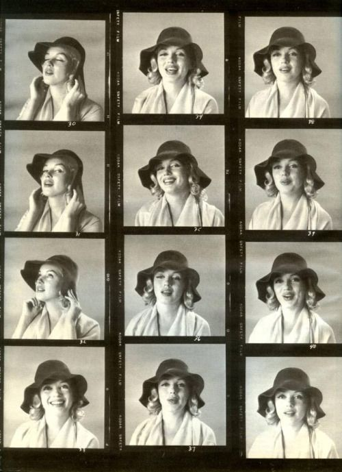 Marilyn Monroe by Carl Perutz, Contact Sheet 1958.