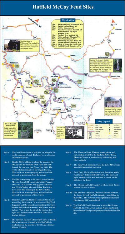 Hatfield And Mccoy Area Maps Hatfield Mccoy Country Hatfields And Mccoys Hatfield The Mccoys