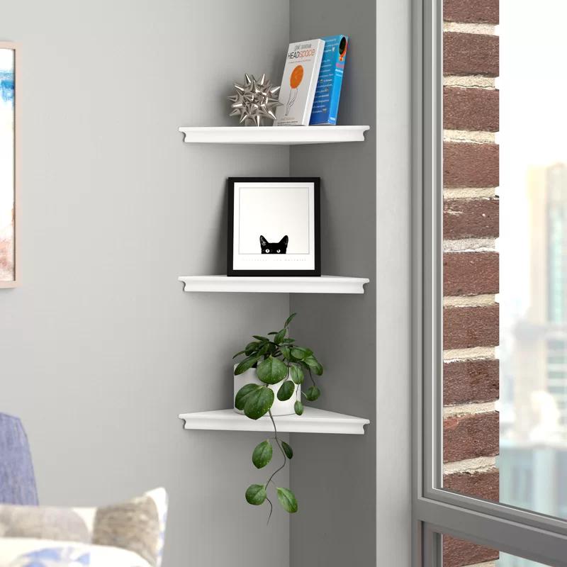 Lebanon Triangle Corner Wall Shelf Set | Corner wall shelves, Wall ...