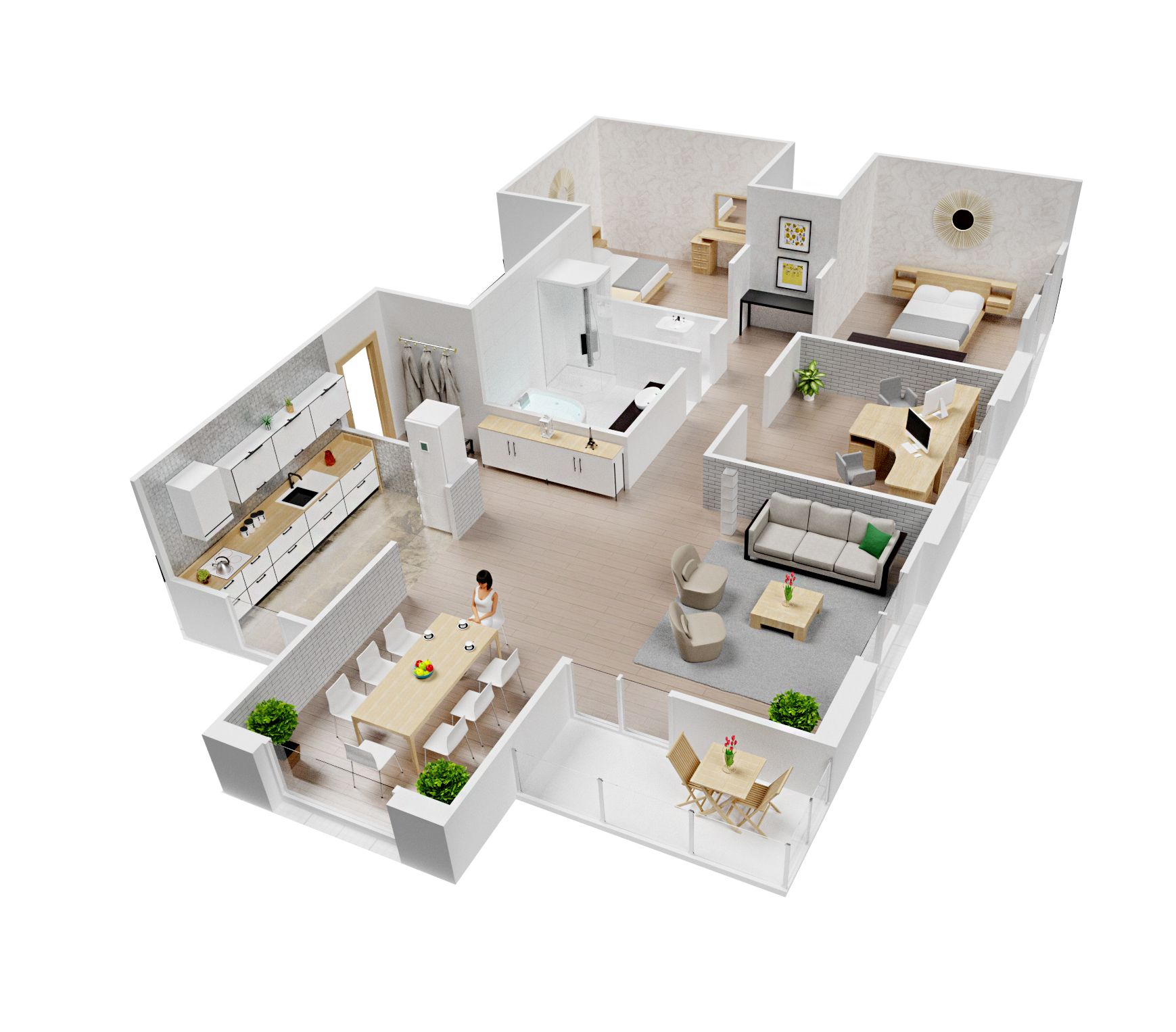 Interior Plan, House Interior, 3D Interior Plan, PLANNER