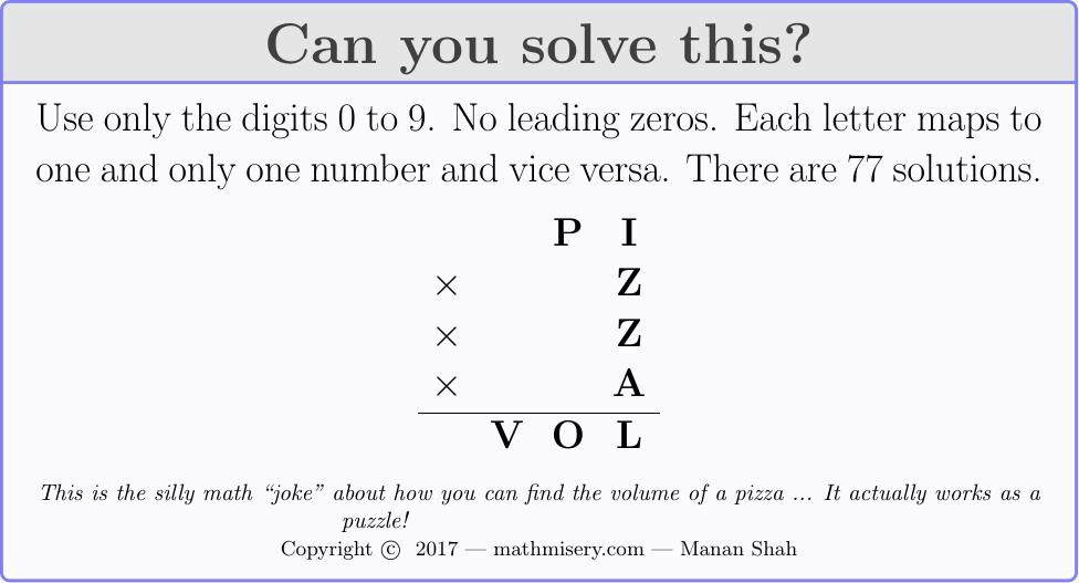 This Is The Silly Math Joke About How You Can Find The Volume Of