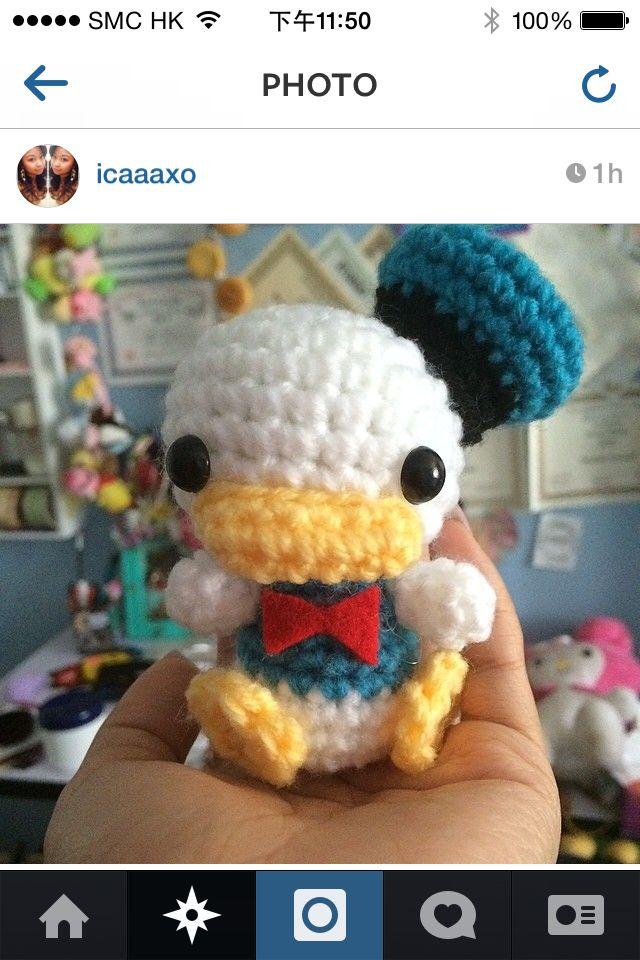 Crochet D Duck Canard Eentje Donald Duck Amigurumi Disney