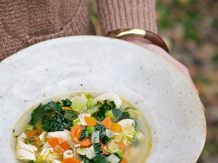 Kale Chicken Noodle Soup