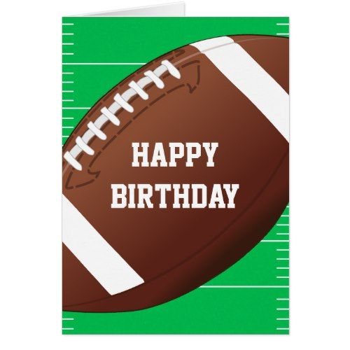 Football Sports Fan Birthday Card Zazzle Com In 2021 Happy Birthday Football Birthday Cards Sports Birthday Party