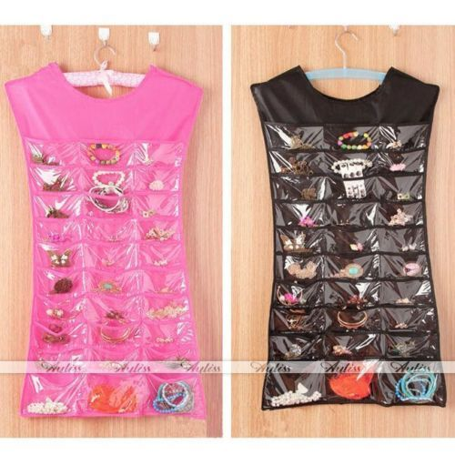 Dress Hanging Jewelry Brooch Bag Closet Display Organiser Holder