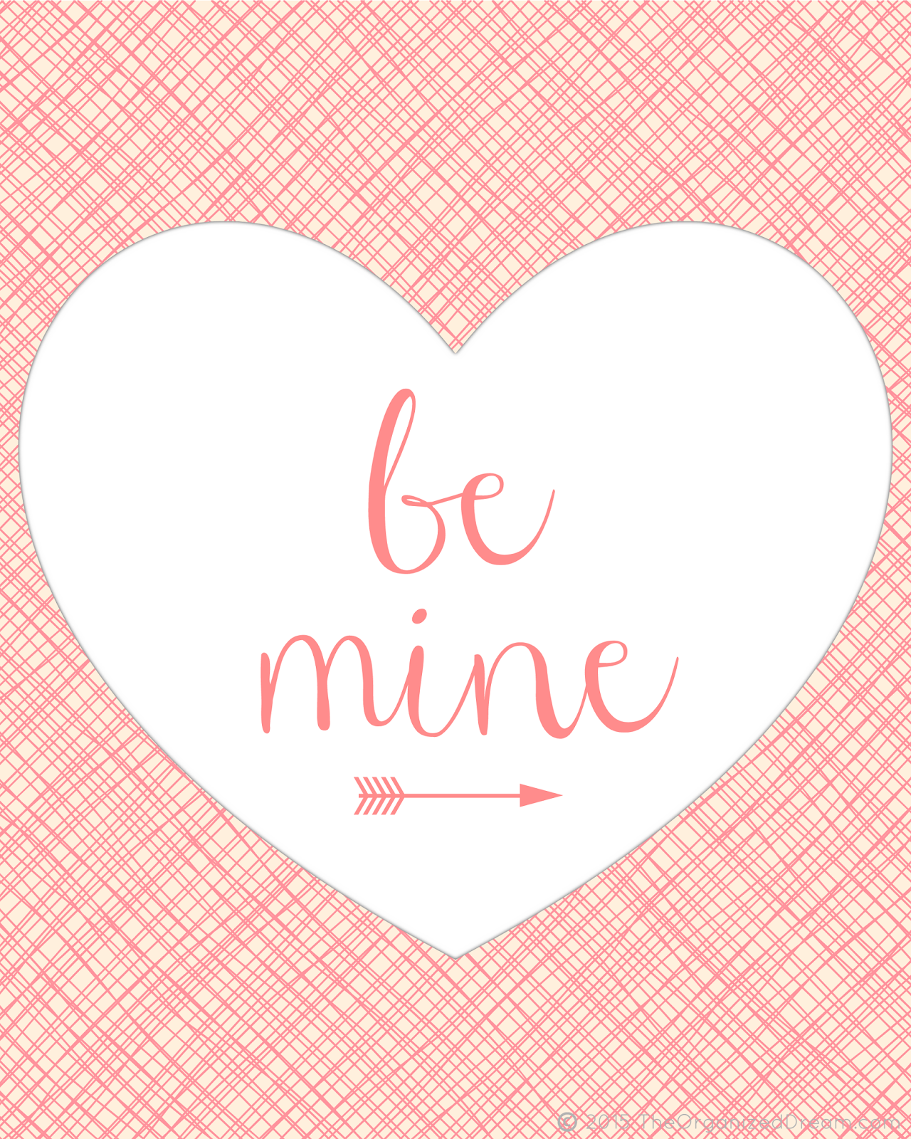 Cute Be Mine Valentine S Day Printable Includes Download File