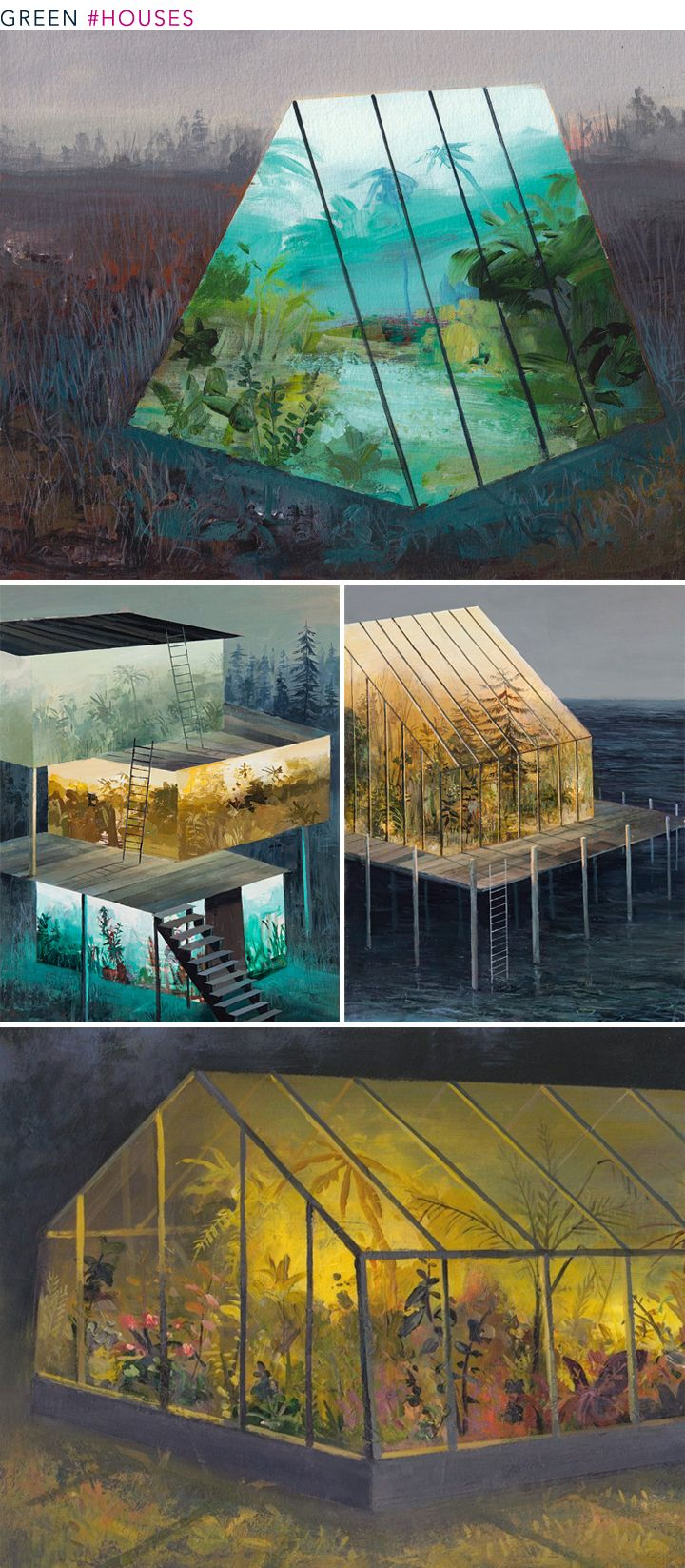 Art Roundup Houses Greenhouse Interiors Wooden Greenhouses Green House Design