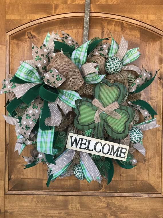 Photo of Irish charm St Patricks Day wreath