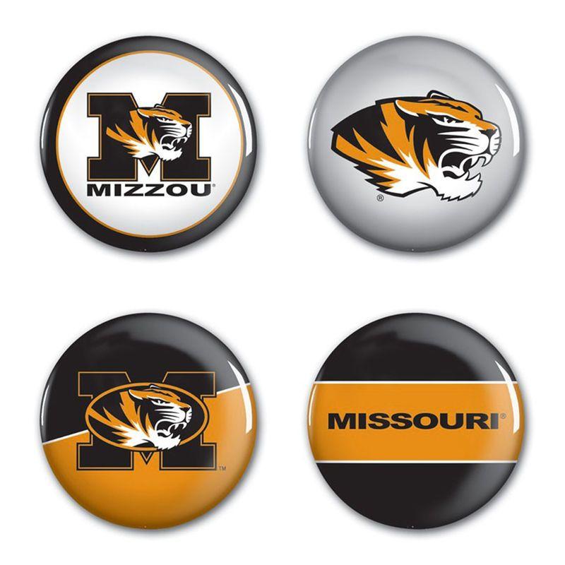 Missouri Tigers WinCraft 4-Pack Button Set