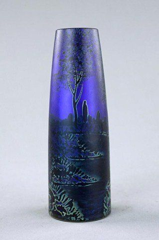 FRENCH SATIN GLASS MADE BY DAUM BOTHERS FROM NANCY, FRANCE  c.1850