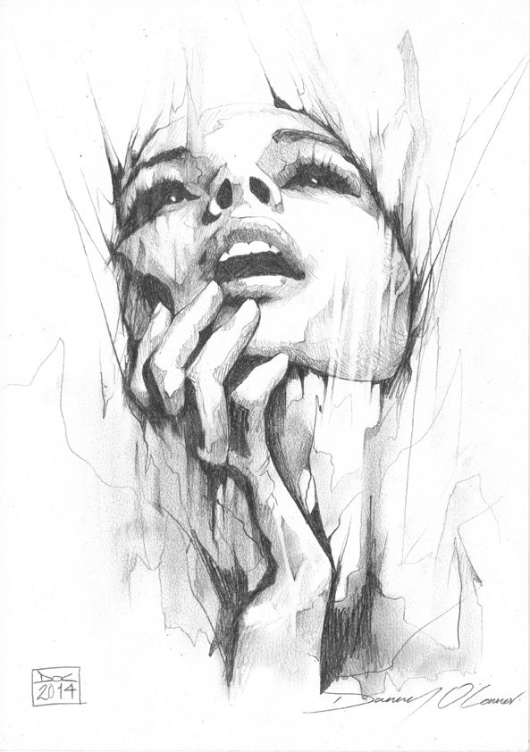 Portrait pencil study by art by doc on deviantart that is a hard perspective to draw of the face
