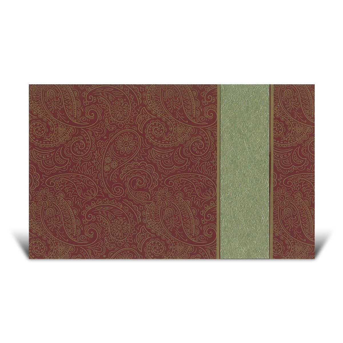A Gold and Red Paisley Wedding invitation. This is a Generic Wedding ...