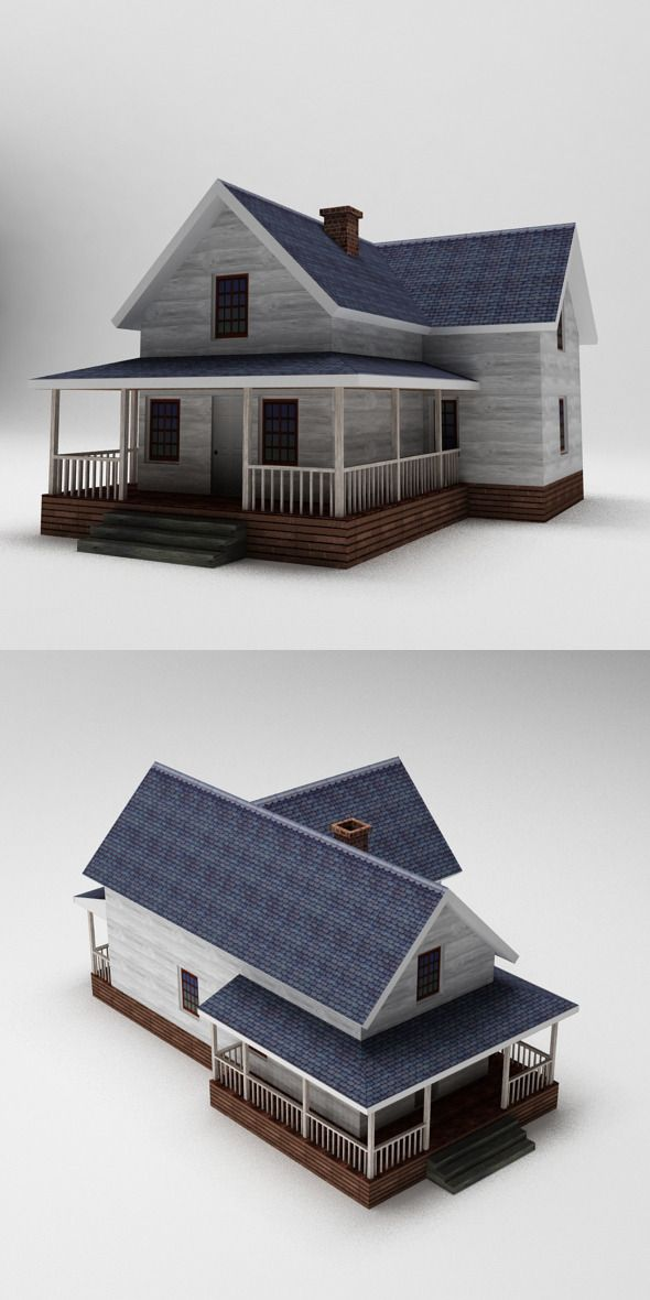 Toy House 001  3D model of a building  #afr_artist