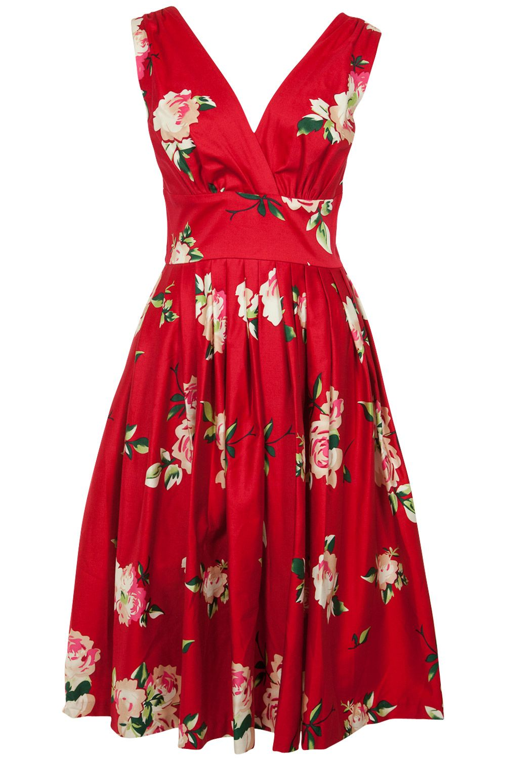 Red floral Vivian Dress <3 | RetroSpec'd.... Love the shape, maybe a different pattern.