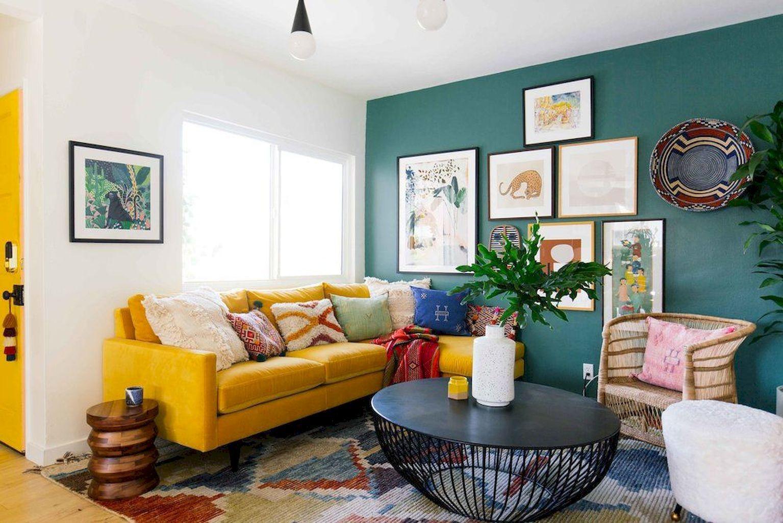 Nice 70 Cozy Living Room With Yellow Sofa Ideas Source Link Https Doitdecor Co 7 Yellow Walls Living Room Mustard Living Rooms Yellow Living Room Furniture