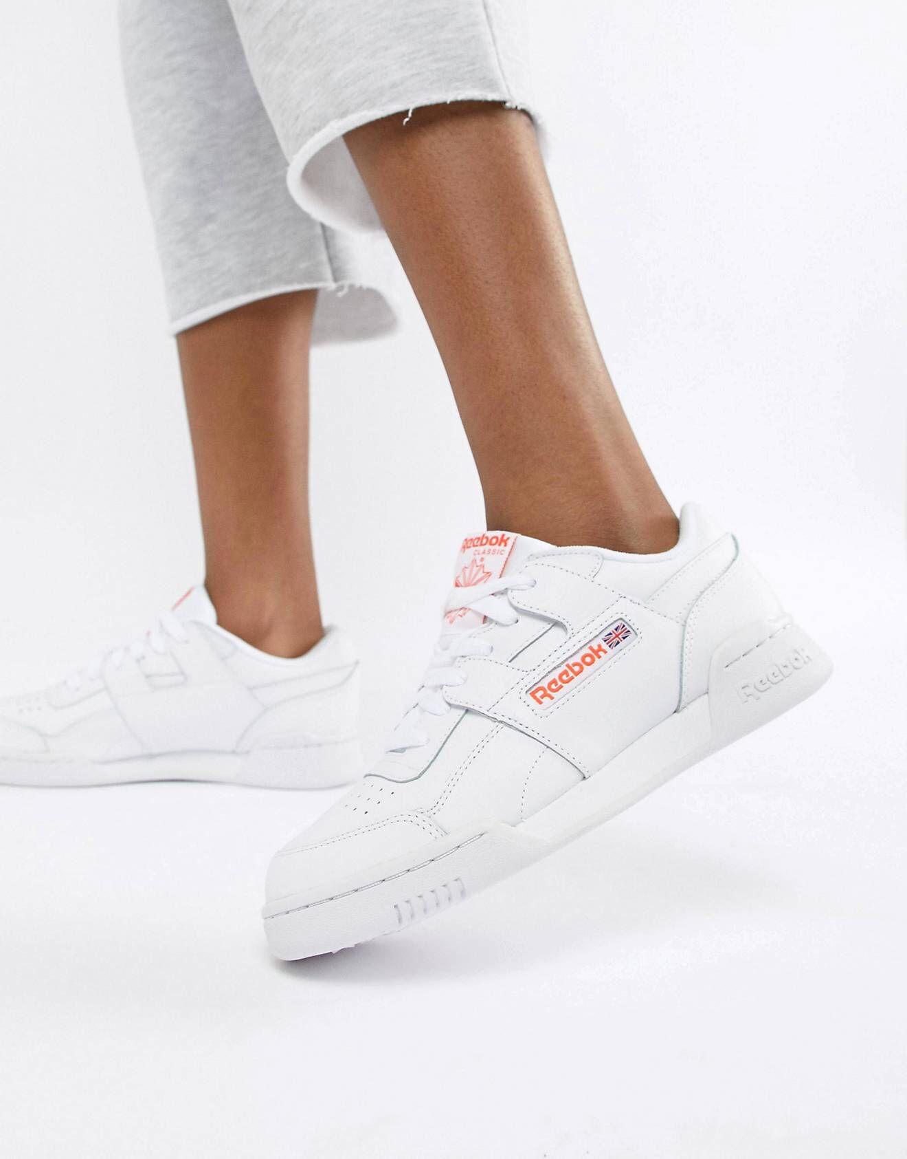 White sneakers women, Reebok workout