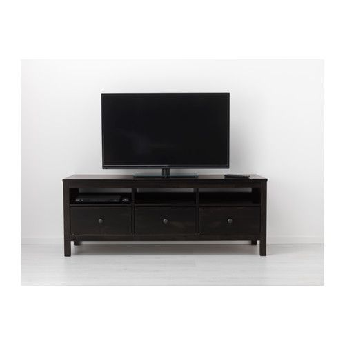 HEMNES Móvel TV - preto-castanho - IKEA