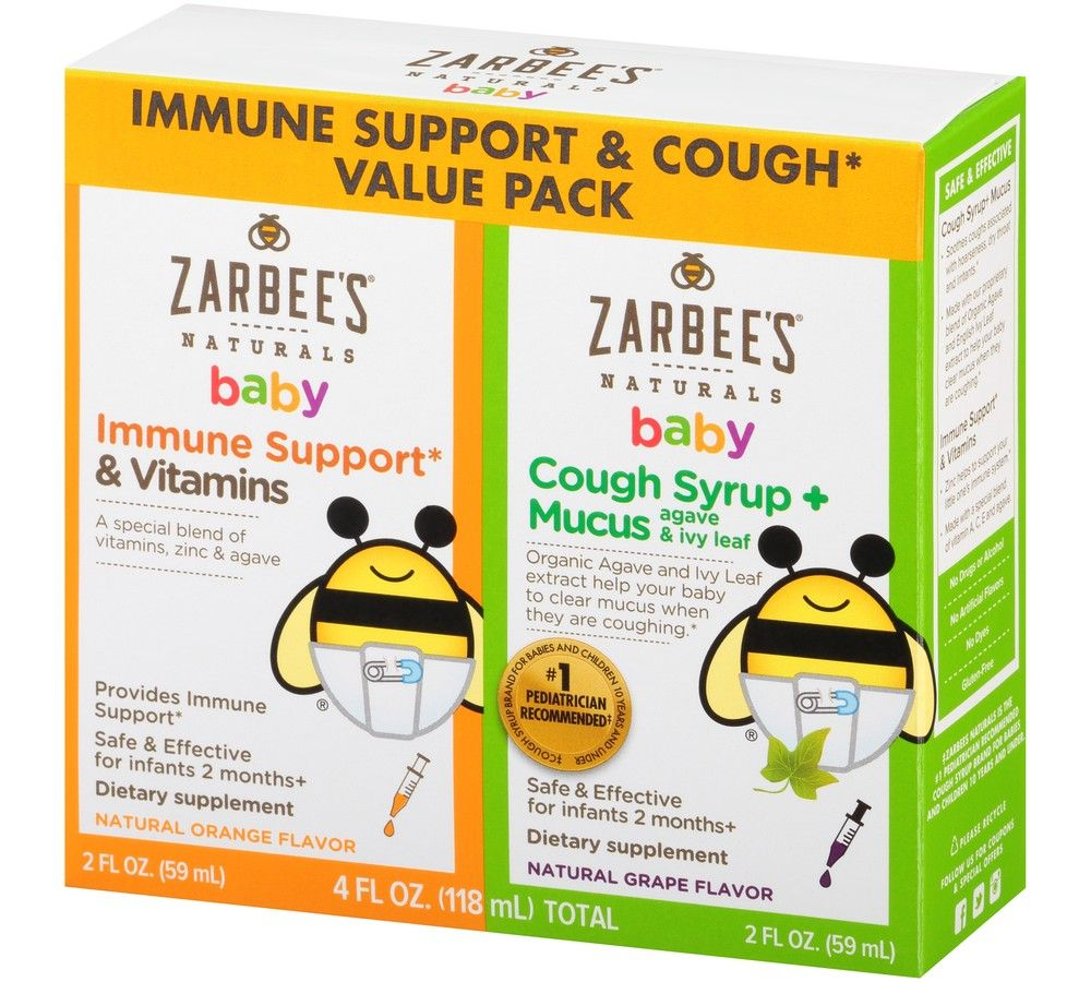 Specially Formulated For Babies This Value Pack Includes Zarbees Naturals Baby Immune Support And Baby Cough S Baby Immune Immune Support Vitamins Natural Baby