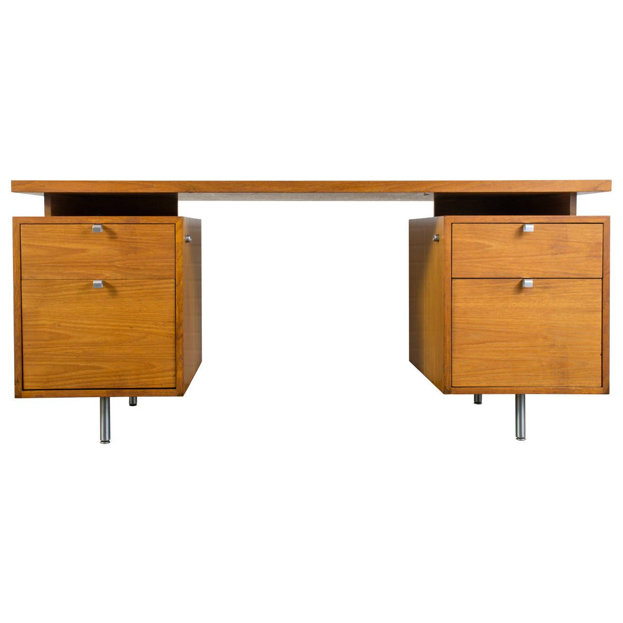 Mid Century Modern Executive Desk By George Nelson For Herman  # Muebles George Nelson