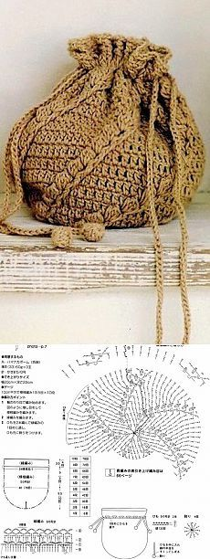 Вязание: сумка-рюкзак крючком