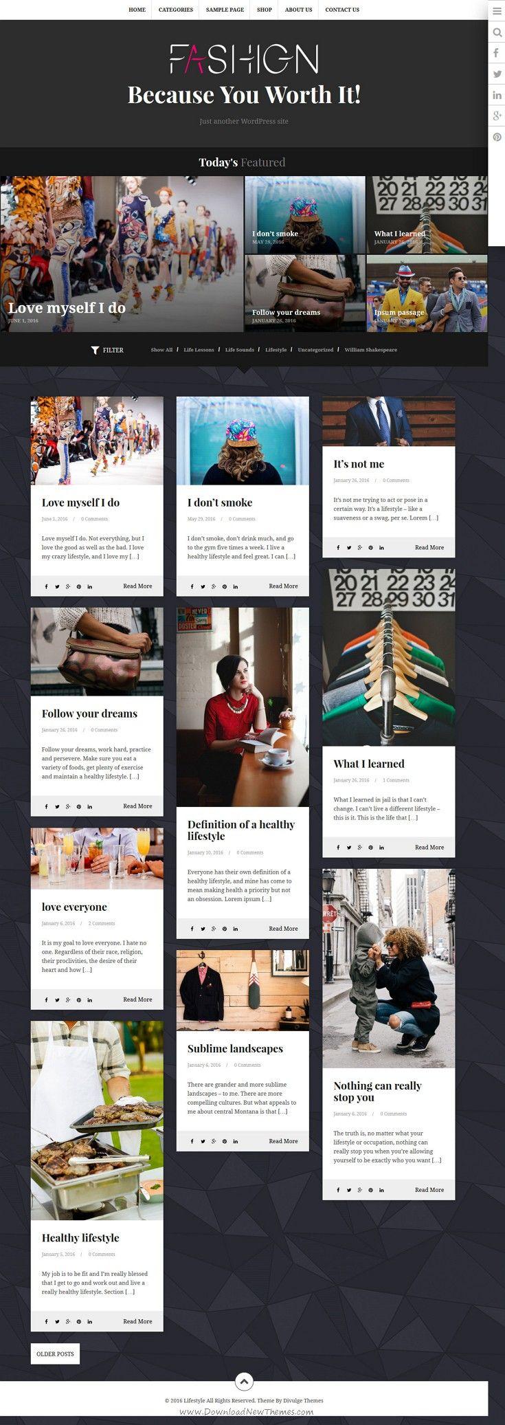Lifestyle Multipurpose Blog Magazine Theme In 2020 Blog Webdesign Blog Layout Amazing Website Designs